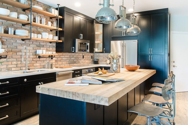 Industrial Kitchen by Nina Williams Interiors