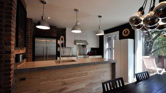 Industrial Bistro Kitchen