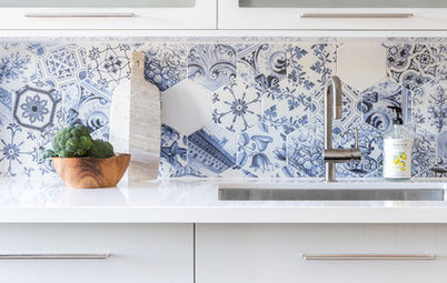 Behold These Bold Kitchen Backsplashes