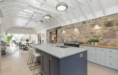 Kitchen of the Week: Industrial Chic in a Scottish Barn Conversion