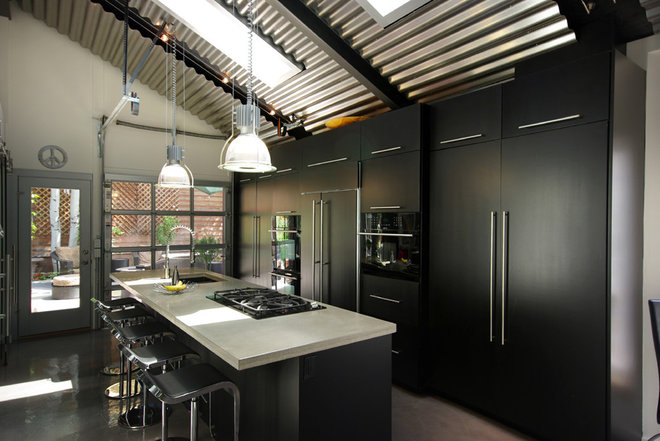 industrial kitchen by Renovation Design Group