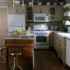 Eclectic Kitchen industrial farmhouse kitchen on a budget