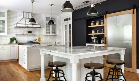 Kitchen of the Week: French Industrial Style in Black and White