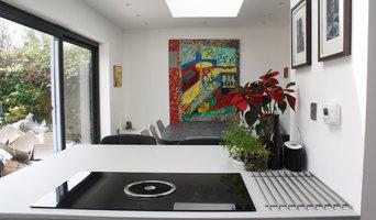 Industrial grey wood, open space kitchen