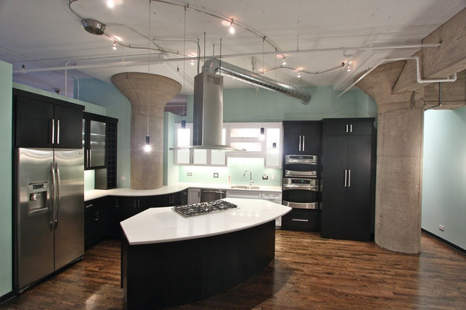 Industrial Kitchen by Steve Bailey - Amish Custom Kitchens