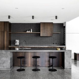 75 Trendy Kitchen with Concrete Countertops Design Ideas - Pictures ...