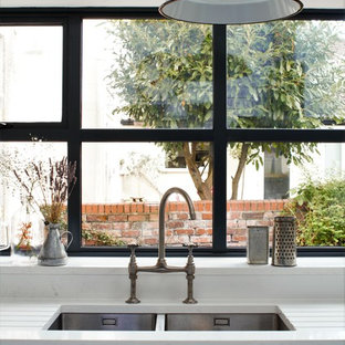 Industrial Kitchen With American Diner Feel