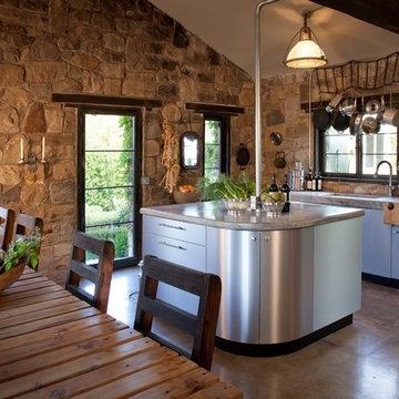 industrial modern steel kitchen