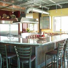 Industrial Kitchen by Monica Durante Interiors, Inc