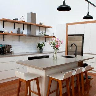 Photo of a scandinavian kitchen in Brisbane.