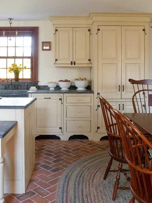 Brick kitchen floor home design ideas pictures remodel for Brick kitchen floor ideas