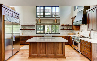 Wood Kitchen With a Rustic Feel and Modern Appeal