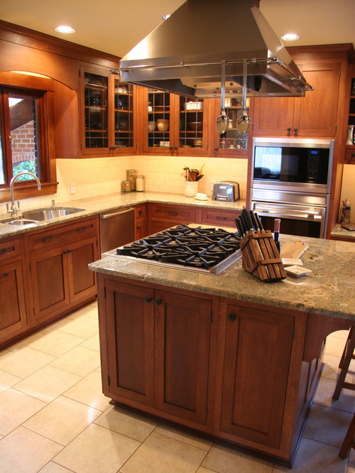 Kitchen Island Cooktop Houzz