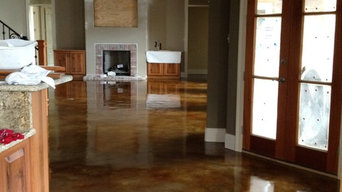 Interior acid stained flooring