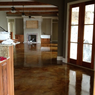 Acid Stained Concrete Floor Inspiration For A Timeless Kitchen Remodel In New Orleans