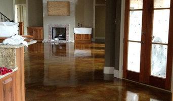 Interior acid stained flooring