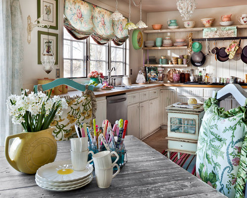 Shabby chic kitchen houzz for Country living 500 kitchen ideas