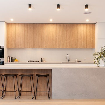 Interior design with Stunning mix of cabinetry