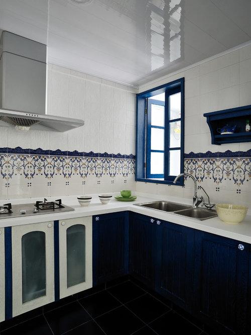 Hong Kong Kitchen Design Ideas Renovations Photos With Multi Coloured Splashback