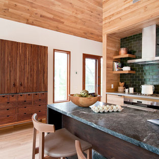 Contemporary Kitchen Photos Inspiration For A Light Wood Floor Remodel In New York