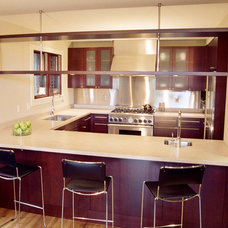 Industrial Kitchen by Landmark Builders
