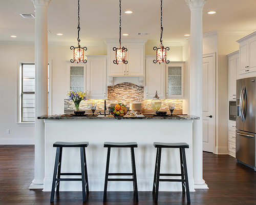 Kitchen Island With Columns island column | houzz