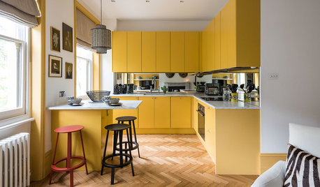 24 Brilliantly Bold Yellow Kitchens