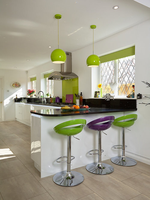 Green And Purple Kitchen Home Design Ideas Pictures