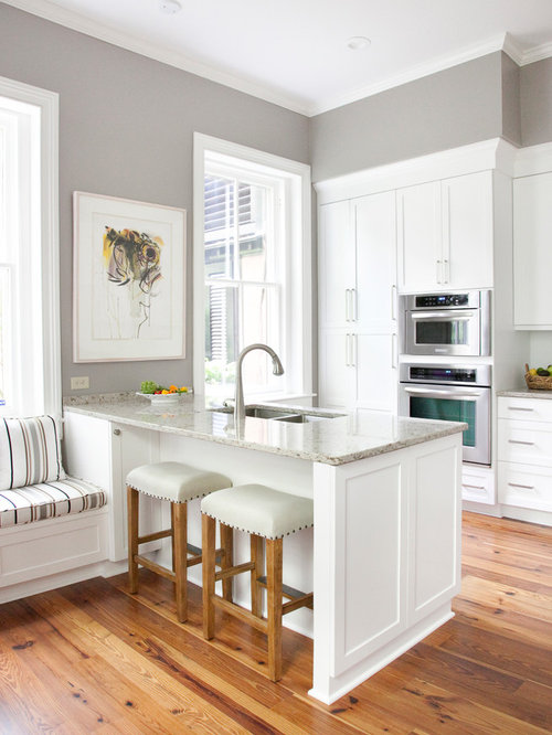 Gray Wall White Cabinet Ideas, Pictures, Remodel and Decor