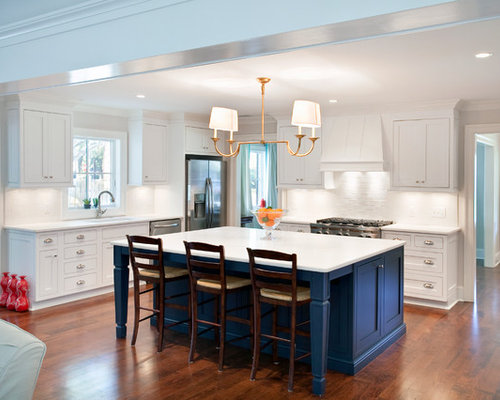Open Concept Kitchen   Traditional L Shaped Open Concept Kitchen Idea In  San Francisco With
