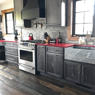 Inverness Drive - Mountain Transitional Kitchen