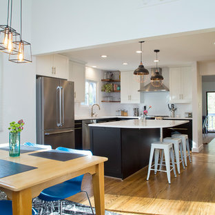 Inviting Black and White Industrial Kitchen