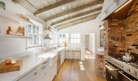 Kitchen of the Week: Brick, Wood and Clean White Lines