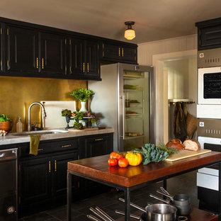 Enclosed kitchen - modern enclosed kitchen idea in Philadelphia
