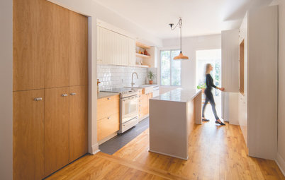 Wood and White Brighten This Kitchen