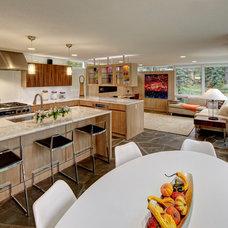 Contemporary Kitchen by Lerman Construction Management Services
