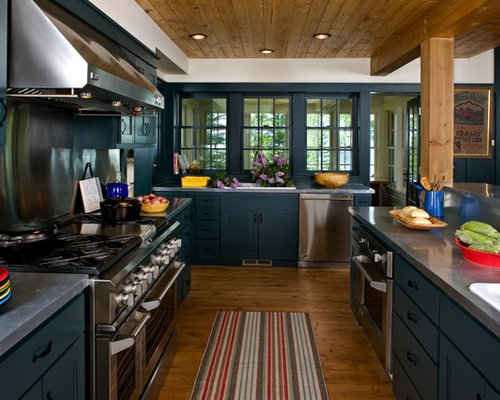 Teal cabinets home design ideas renovations photos for Teal kitchen ideas