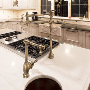 Island Prep with a sink and pot filler.