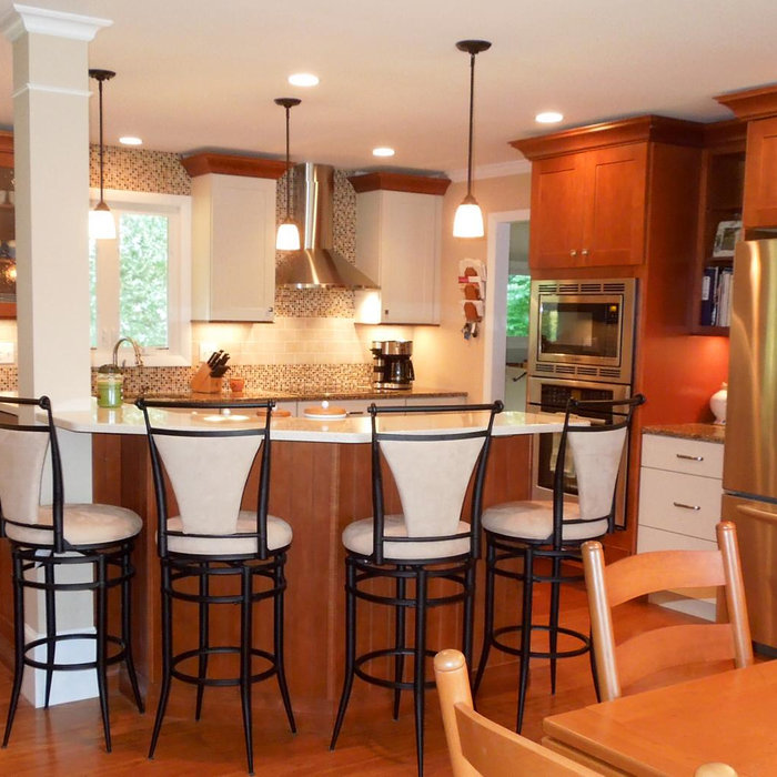 Transitional Two Tone Kitchen Remodel for Two