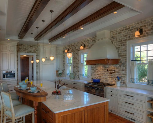 Kitchen Photo In Charleston With Marble Countertops
