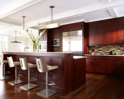 Dark Cherry Cabinets Houzz
