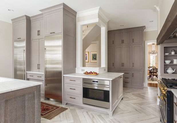 Kitchen Of The Week Modern And Traditional Elements Mix