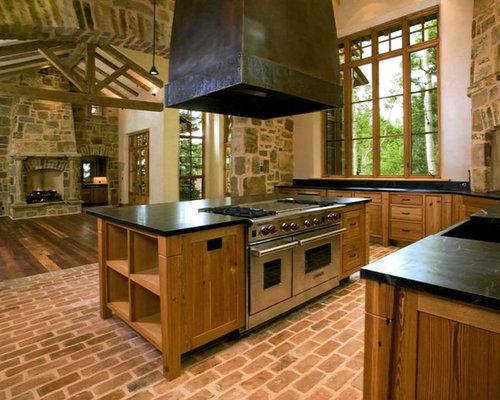 Brick Kitchen Floors : Brick kitchen floor houzz