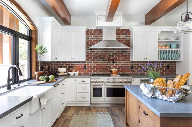 Transitional Kitchen by Juxtaposed Interiors