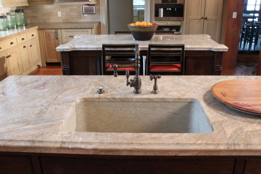 Italian Hand Carved Sink Kitchen