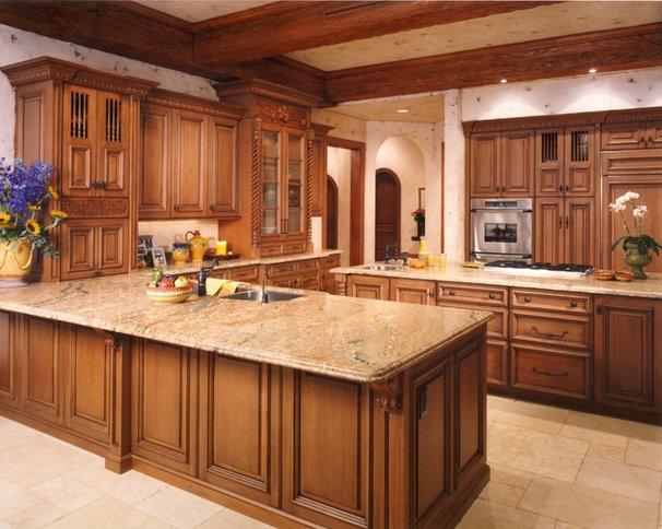 Mediterranean Kitchen by Terry L Irwin Architects