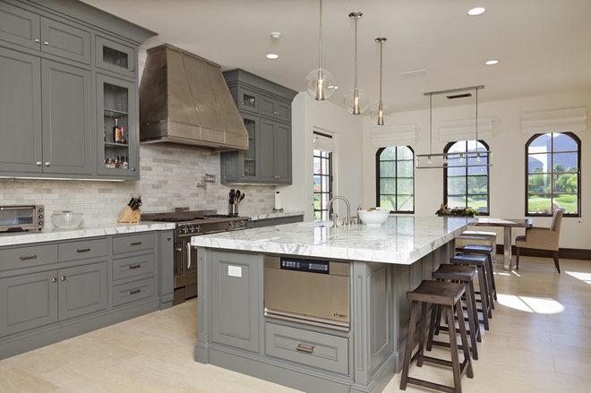 Traditional Kitchen by Rock Bottom Tile and Stone LLC