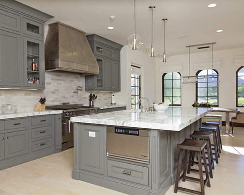 Gray Kitchen Cabinets Design Ideas & Remodel Pictures | Houzz