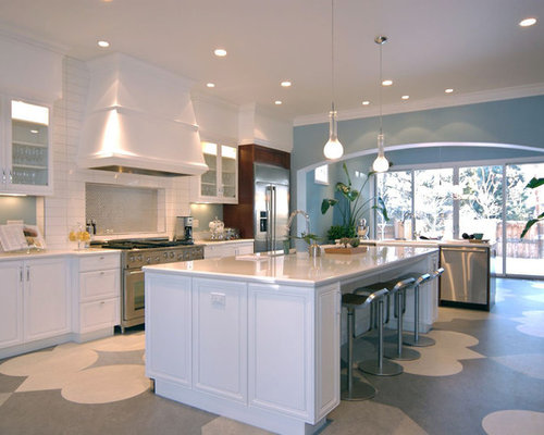 Linoleum flooring houzz for Kitchen linoleum tiles