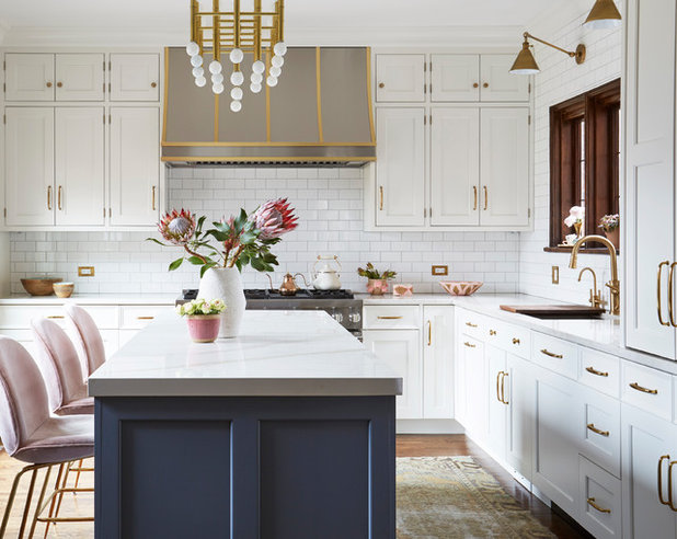 Transitional Kitchen by Greenfield Cabinetry